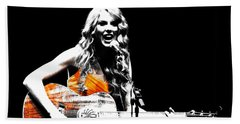 Taylor Swift 9s Beach Towel by Brian Reaves