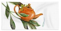 Tea Frog Beach Sheet by Amy Kirkpatrick