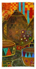 Tea Party With Klimt Beach Towel