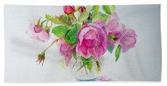 Tea Rose Beach Sheet by Beatrice Cloake