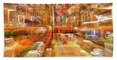 Beach Towel featuring the photograph Tea Store Abstract by Stuart Litoff