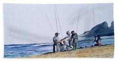 Teach Them To Fish Beach Sheet by Tim Johnson