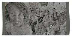Teagan And Her Family Beach Sheet
