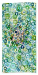 Teal And Olive Concavity Beach Towel
