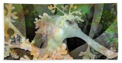 Teal Leafy Sea Dragon Beach Towel