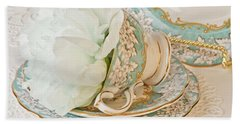 Teal Peony For Real  Beach Sheet