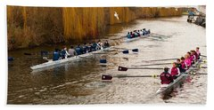 Teams Of Rowers On River Cam Beach Sheet