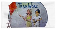 Teamwork Beach Towel