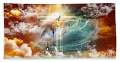 Beach Towel featuring the digital art Tears To Triumph by Dolores Develde