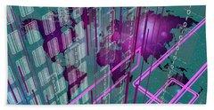 Beach Towel featuring the digital art Tech Perspective World by Alberto RuiZ