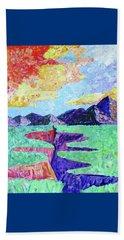Techni-color Rio Grande  Beach Towel by Brenda Pressnall