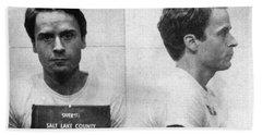 Ted Bundy Mug Shot 1975 Horizontal  Beach Sheet