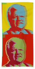 Beach Towel featuring the digital art Ted Kennedy by Jean luc Comperat