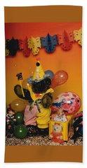 Teddy Bear Celebrates, Birthday Teddy Bear Beach Sheet