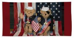 Teddy Bears In America Beach Towel