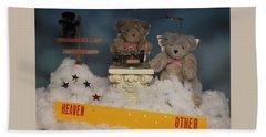 Teddy Bears In Heaven Beach Towel