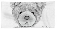 Teddybear Portrait Beach Towel