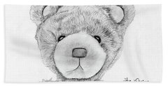 Teddybear Portrait Beach Sheet