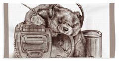 Teenage Bear Beach Sheet