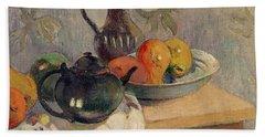 Teiera Brocca E Frutta Beach Towel by Paul Gauguin