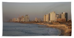 Tel Aviv Coast. Beach Sheet by Shlomo Zangilevitch