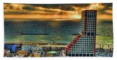 Beach Towel featuring the photograph Tel Aviv Lego by Ron Shoshani