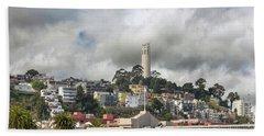 Telegraph Hill Neighborhood Homes In San Francisco Beach Towel