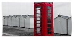Telephone Box By The Sea I Beach Towel