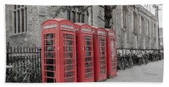 Telephone Boxes Beach Towel