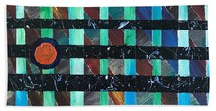 Beach Towel featuring the painting Television by Robbie Masso