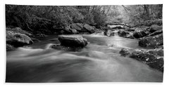 Tellico Waters In Black And White Beach Towel