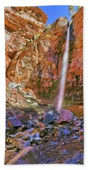 Beach Towel featuring the photograph Telluride, Colorado's Cornet Falls - Colorful Colorado - Waterfall by Jason Politte
