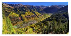 Beach Towel featuring the photograph Telluride In Autumn - Colorful Colorado - Landscape by Jason Politte