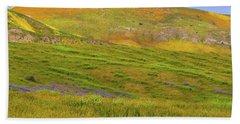 Temblor Range Spring Color Beach Towel