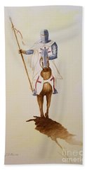 Templar Knight Beach Towel