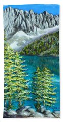 Beach Towel featuring the painting Temple Crag by Amelie Simmons