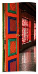 Beach Sheet featuring the photograph Temple Door by Alexey Stiop