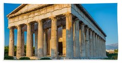 Temple Of Hephaestus Beach Towel