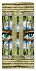 Temple Of Love Petit Trianon Versailles Palace Paris Beach Towel