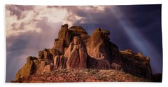 Temple Of Red Stone Beach Towel
