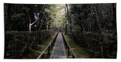 Temple Path - Kyoto Japan Beach Towel