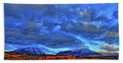 Beach Towel featuring the photograph Ten Mile Of Fall Colors by Scott Mahon
