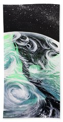 Beach Towel featuring the painting Tenaciously Mindful by Nathan Rhoads