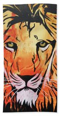 Beach Towel featuring the painting Tenderhearted Warrior by Nathan Rhoads