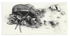 Darkling Beetle Beach Towel