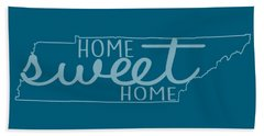 Beach Towel featuring the digital art Tennessee Home Sweet Home by Heather Applegate