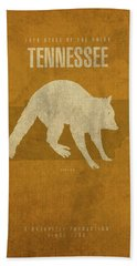 Tennessee State Facts Minimalist Movie Poster Art Beach Towel by Design Turnpike