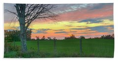 Beach Towel featuring the photograph Tennessee Sunset by David Waldrop