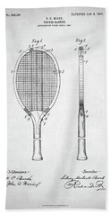 Tennis Racket Patent 1907 Beach Sheet by Taylan Apukovska