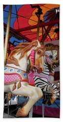 Tented Carousel Beach Towel